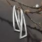 Durchzieher 30x8mm Ohrhaken Dreieck Silber 925