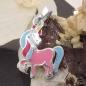 Schmuck Anhänger Pferd mit einem Horn Silber 9
