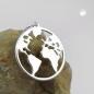 Anhänger 16mm Weltatlas glänzend Silber 925