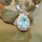 Anhänger Zirkonia hellblau Silber 925