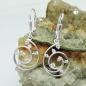 Ohrbrisuren Spirale mit Zirkonias Silber 925
