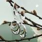 Ohrbrisuren oval bicolor Zirconia Silber 925