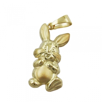 Anhänger Hase 20x11mm 9Kt GOLD