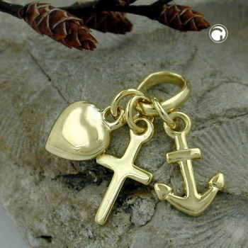 Anhänger Glaube-Liebe-Hoffnung 9Kt GOLD