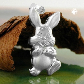 Anhänger Hase 20x10mm Silber 925