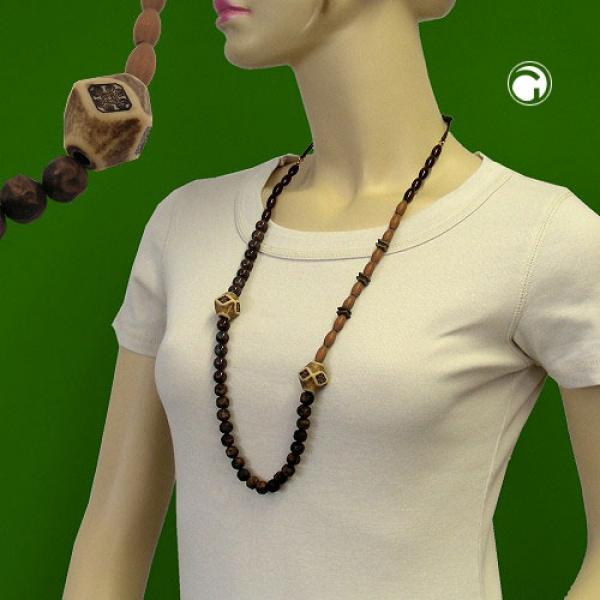 Halskette, dunkelbraun-ahorn-altmessing-00124 Preisvergleich