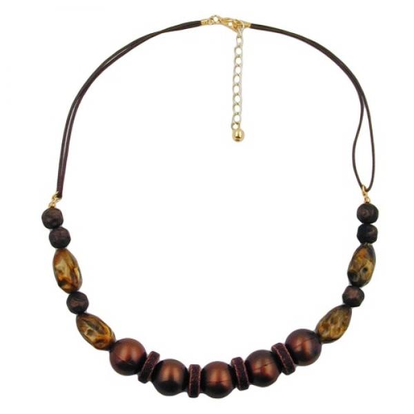 Halskette, dunkelbraun-seidig, Kordel -00125 Preisvergleich