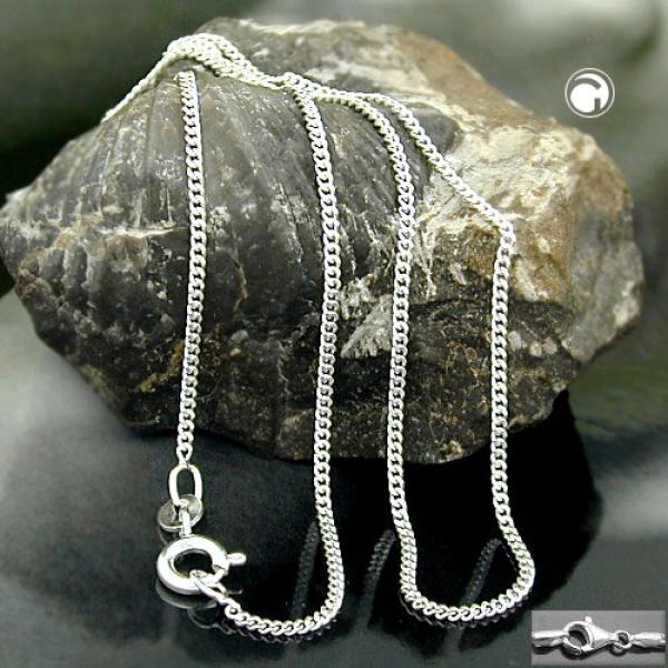 Kette, Panzer 2x diamantiert Silber 925 -101401-36