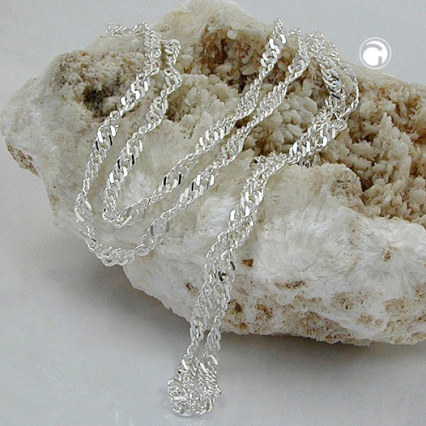Schmuck by GB - Kette, Singapur diamantiert Silber 925 -118000-50