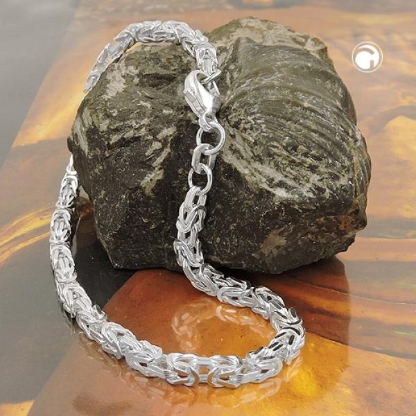 Armband Königskette 3mm Silber 925 18cm -137000-18