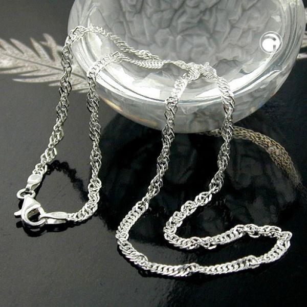 Gallay Collier Singapur diamantiert Silber 925 36cm lang