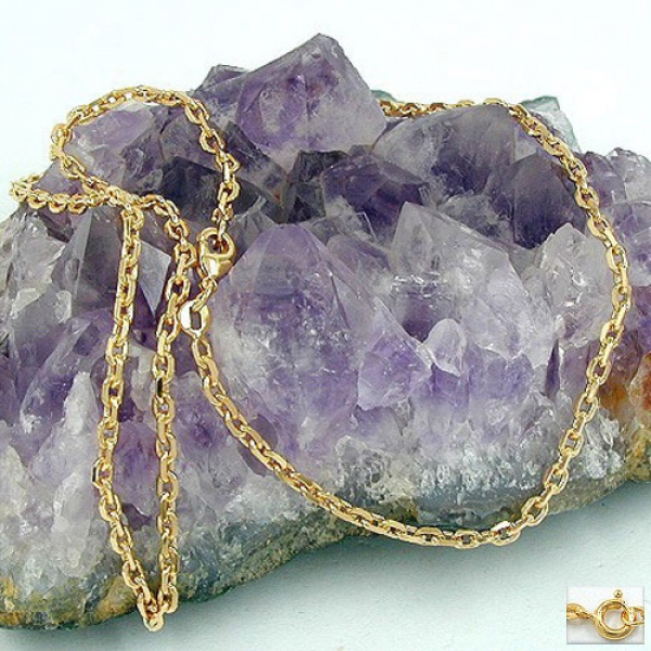 Kette Ankerkette 2,6mm 8fach diamantiert vergoldet AMD 55cm