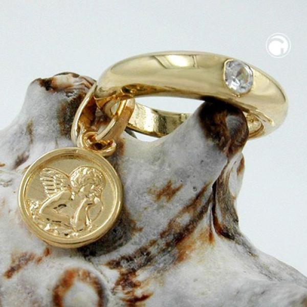 Taufring, Einhänger, Zirkonia, 9Kt GOLD -430744