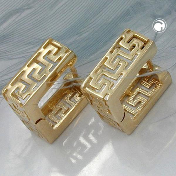 Creole, Viereck matt Muster, 9Kt GOLD -430756