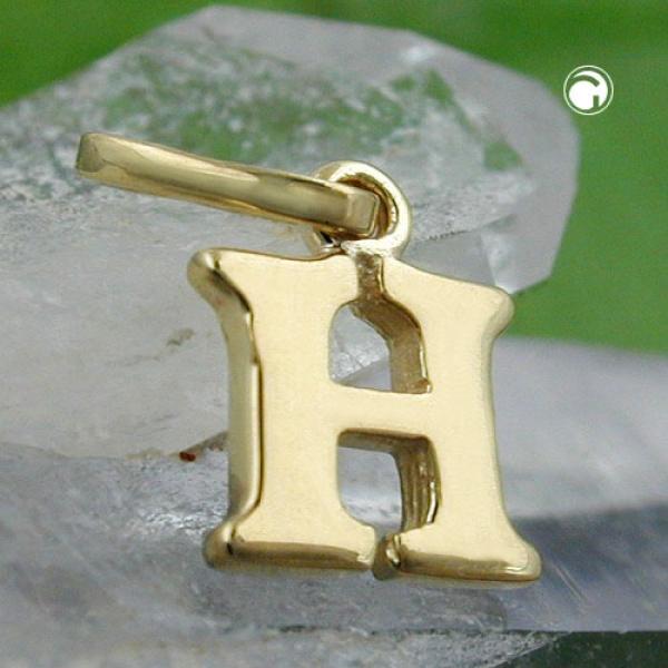 Schmuck Anhänger, Buchstabe H, 9Kt GOLD -430857