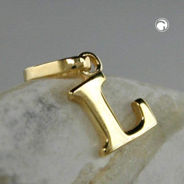 Schmuck Anhänger, Buchstabe L, 9Kt GOLD -430861