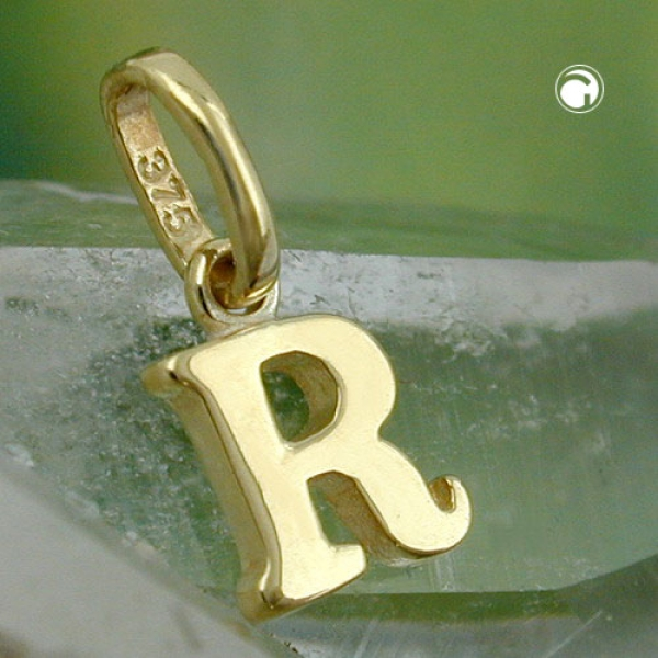 Schmuck Anhänger, Buchstabe R, 9Kt GOLD -430867