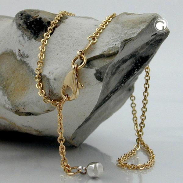 Gallay Fußkette Anker mit Endkugel 9Kt Gold 25cm lang