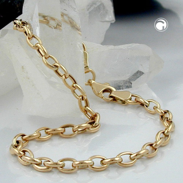 Gallay Armband Ankerkette oval 9Kt Gold 19cm lang
