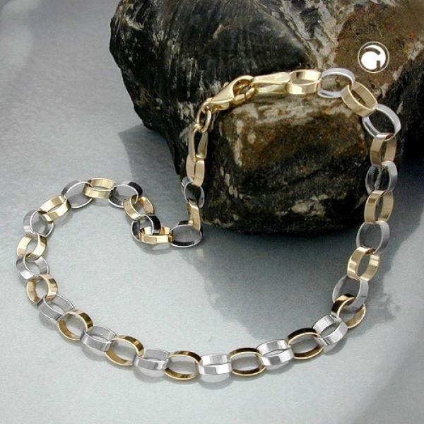 Gallay Armband Ankerkette oval 9Kt Gold 19cm lang