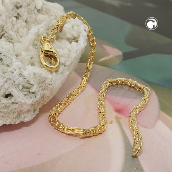 Armband Königskette 2x2mm 14Kt GOLD 19cm -537001-19