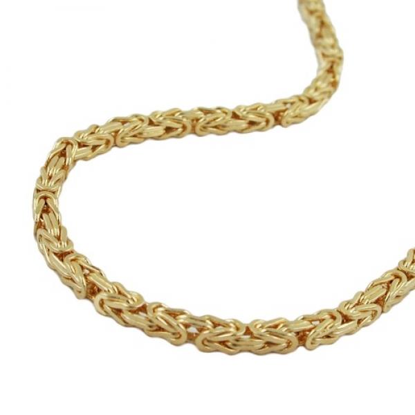 Königskette 2,5x2,5mm 14Kt GOLD 50cm -537002-50