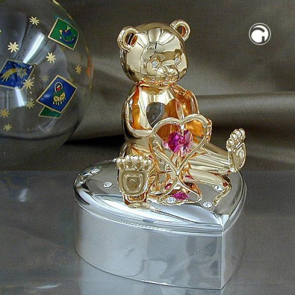 Schmuckdose Herz - Bär mit Herz pink -70565