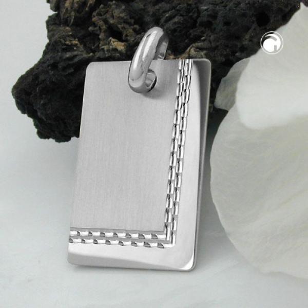 Schmuck Anhänger, Gravurplatte matt-diamantiert, Silber 925-91821 Preisvergleich
