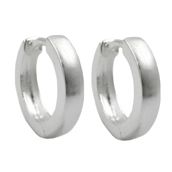 Ohrringe Creole 13x3mm Klappscharnier seidenmatt Silber 925 -92236 Preisvergleich