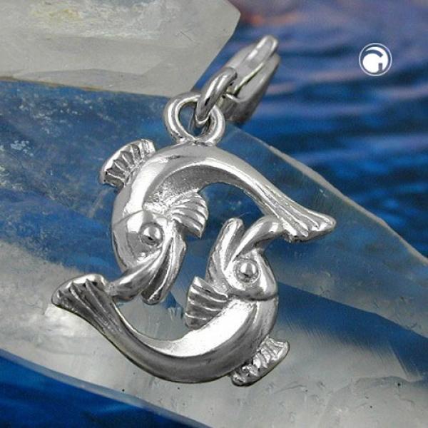 Schmuck Anhänger 14x14mm Charm Fische glänzend rhodiniert Silber 925-93123 Preisvergleich