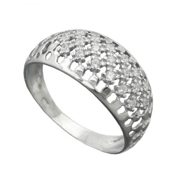 Ring 9mm mit vielen Zirkonias glänzend rhodiniert Silber 925 Ringgröße 56 -94064-56 im Preisvergleich