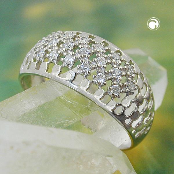 Ring 9mm mit vielen Zirkonias glänzend rhodiniert Silber 925 Ringgröße 56-94064-56 Preisvergleich