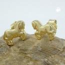 Ohrstecker 6x7mm Pferde glänzend 9Kt GOLD -430295