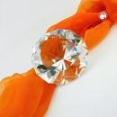Glasstein, Form Diamant, kristall klar -70323
